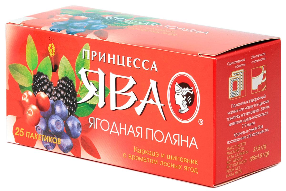 Принцесса Ява Ягодная поляна травяной чай в пакетиках, 25 шт