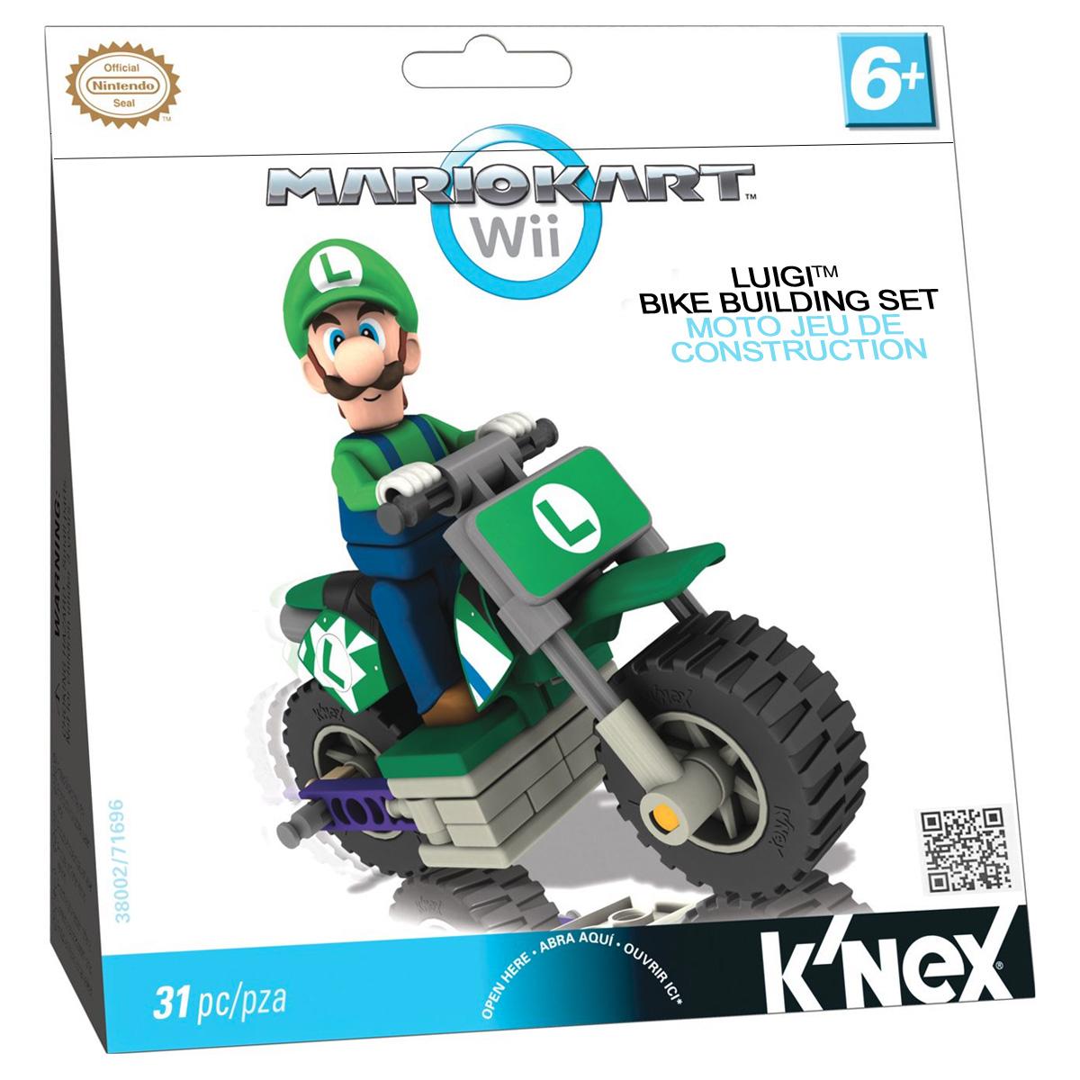 KNEX Конструктор Транспорт Mario цвет зеленый38002/T71696Конструктор Транспорт Mario понравится всем поклонникам видеоигры от компании Nintendo. В комплект входит 31 элемент конструктора, включая фигурку любимого героя. С помощью элементов конструктора ребенок сможет собрать мотоцикл и фигурку Луиджи.