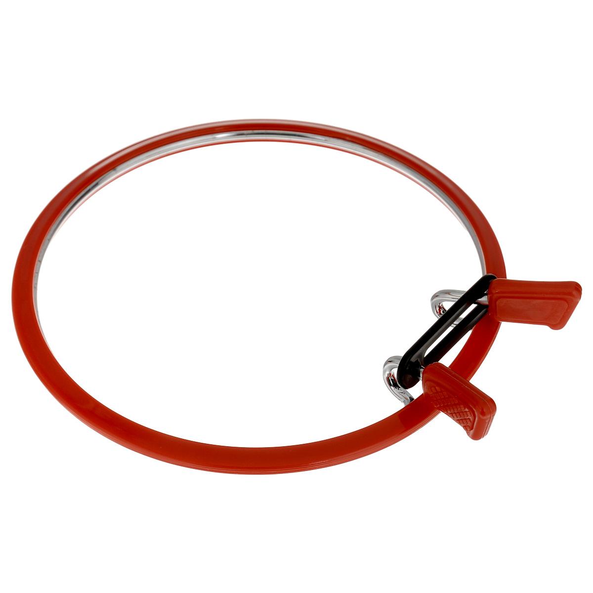 """Пяльцы """"Nurge Hobby"""", цвет: красный, диаметр 12,6 см"""