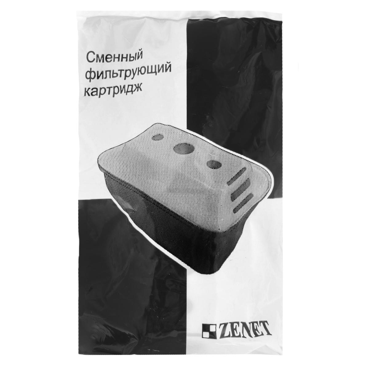 Картридж для фильтра-кувшина Zenet, сменный00000417Сменный картридж для кувшина Zenet, изготовлен из уникальных сорбционных материалов марки Zenet и задерживает вредные добавки и химические соединения, удаляет хлор, фенол, тяжелые металлы, пестициды. В состав картриджа входит кокосовый активированный уголь высшей очистки, который используется для очистки питьевой воды, удаления хлора и остаточных окислителей. Для фильтрации воды поместите картридж-фильтр в фильтр-кувшин и профильтруйте воду не менее двух раз, сливая воду в раковину. Ресурс картриджа: 300 литров.