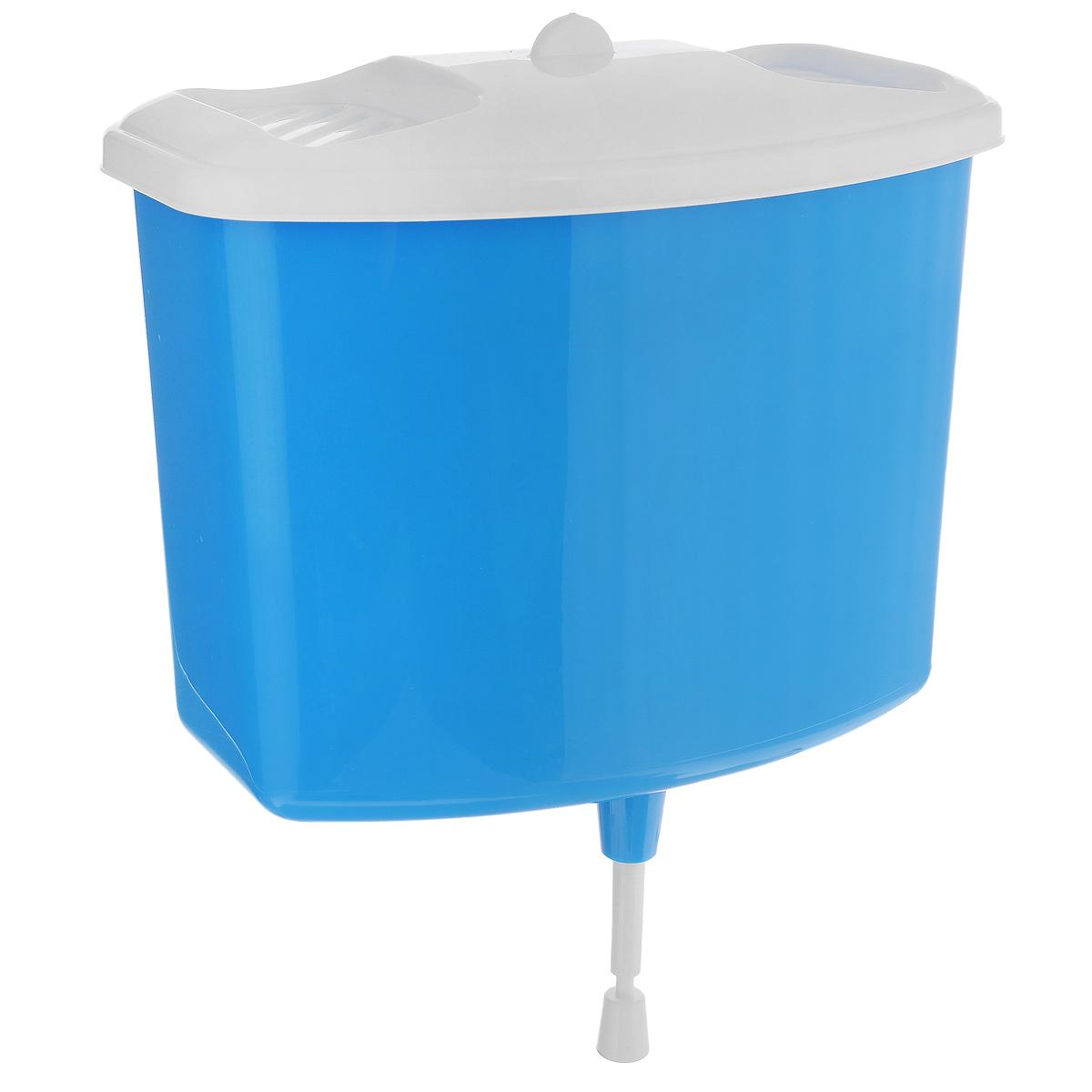 Рукомойник Альтернатива, цвет: голубой, 5 лМ367 голубойРукомойник Альтернатива изготовлен из пластика. Он предназначен для умывания в саду или на даче. Яркий и красочный, он отлично впишется в окружающую обстановку. Петли предоставляют вертикальное крепление рукомойника. Изделие оснащено крышкой, которая предотвращает попадание мусора. Также на крышке имеет две выемки для мыла. Рукомойник Альтернатива надежный и удобный в использовании. Размер рукомойника: 26,5 см х 15 см. Высота (без учета крышки): 23 см.
