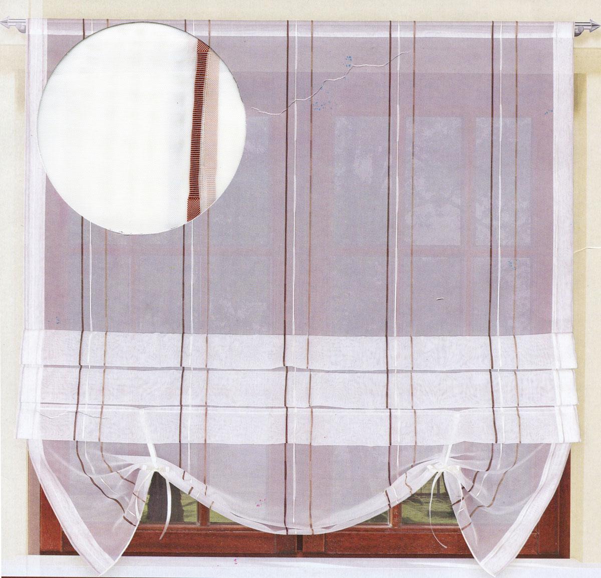 Гардина Haft, на ленте, цвет: молочный, высота 160 см. 200990/160200990/160Гардина Haft, изготовленная из органзы (100% полиэстера), великолепно украсит любое окно. Воздушная ткань, принт в полоску и приятная, приглушенная гамма привлекут к себе внимание и органично впишутся в интерьер помещения. Полиэстер - вид ткани, состоящий из полиэфирных волокон. Ткани из полиэстера - легкие, прочные и износостойкие. Такие изделия не требуют специального ухода, не пылятся и почти не мнутся. Гардина крепится на карниз при помощи ленты, которая поможет красиво и равномерно задрапировать верх. Такая гардина идеально оформит интерьер любого помещения.