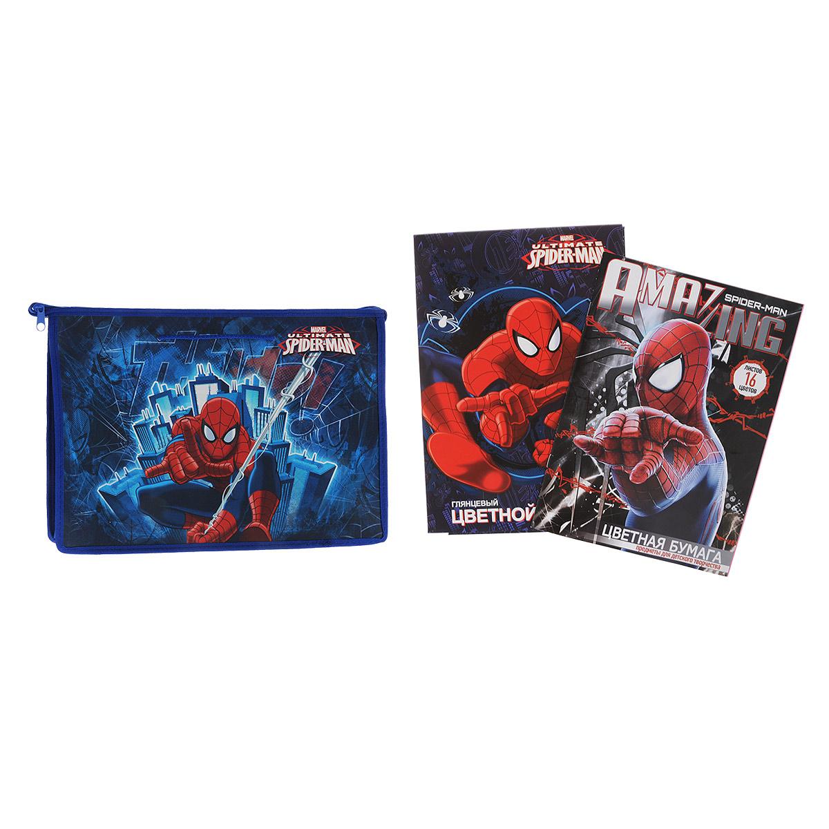 Набор школьных принадлежностей для труда Spider-man, 27 предметовSMOZ-UT1-PTR-SET2Набор школьных принадлежностей для труда Spider-man позволит юным поклонникам мультфильма всегда быть подготовленными к урокам! Набор включает в себя: папку-портфель с ручками на молнии формата А4, набор цветной бумаги 16 листов, набор цветного картона 10 листов. Пластиковая папка-портфель предназначена для хранения тетрадей, рисунков и прочих бумаг. Позволяет легко разместить в ней альбом для рисования или набор цветной бумаги. Внутри папки одно большое отделение. Закрывается папка на застежку-молнию. Яркая и удобная, такая папка непременно понравится вашему ребенку и станет стильным набором со всем необходимым к школе.