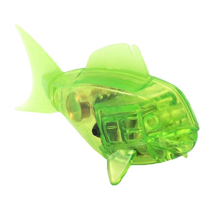 Микро-робот Hexbug Aqua Bot, цвет: салатовый460-3028_9Уникальный микро-робот Hexbug Aqua Bot изготовлен из безопасного пластика в виде рыбки. Теперь микро-роботы осваивают и водные глубины! Hexbug Aqua Bot плавает как настоящая рыба и непредсказуем в направлении движения. Опустите его в воду и он оживет! Если микро-робот замер, то достаточно просто всколыхнуть воду и он снова поплывет. Вне воды он автоматически выключается. Для работы игрушки необходимы 2 батарейки типа LR44 (товар комплектуется демонстрационными).