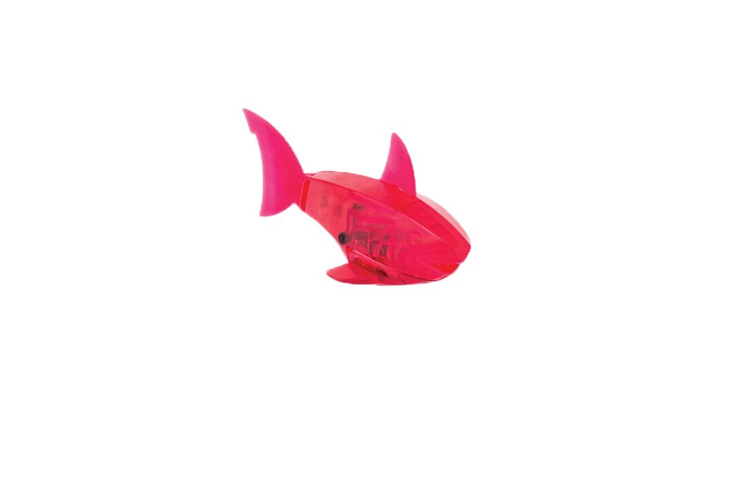 Микро-робот Hexbug Aquabot Shark, цвет: красный460-3028_3Уникальный микро-робот Hexbug Aquabot Shark изготовлен из безопасного пластика в виде акулы. Теперь микро-роботы осваивают и водные глубины! Hexbug Aquabot Shark плавает как настоящая акула и непредсказуем в направлении движения. Опустите его в воду и он оживет! Если микро-робот замер, то достаточно просто всколыхнуть воду и он снова поплывет. Вне воды он автоматически выключается. Для работы игрушки необходимы 2 батарейки типа LR44 (товар комплектуется демонстрационными).