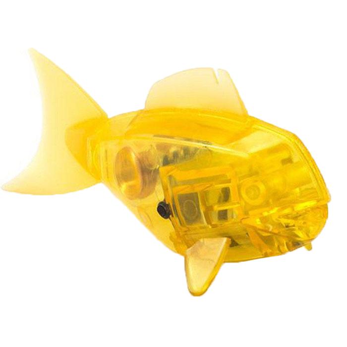 Микро-робот Hexbug Aqua Bot, цвет: желтый460-3028_8Уникальный микро-робот Hexbug Aqua Bot изготовлен из безопасного пластика в виде рыбки. Теперь микро-роботы осваивают и водные глубины! Hexbug Aqua Bot плавает как настоящая рыба и непредсказуем в направлении движения. Опустите его в воду и он оживет! Если микро-робот замер, то достаточно просто всколыхнуть воду и он снова поплывет. Вне воды он автоматически выключается. Для работы игрушки необходимы 2 батарейки типа LR44 (товар комплектуется демонстрационными).