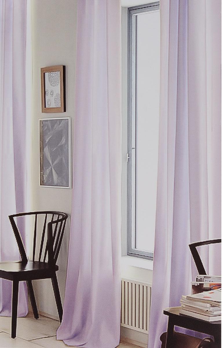Штора готовая для гостиной Garden, на ленте, цвет: сиреневый, размер 300*260 см. C W191 V76008C W191 V76008Изящная тюлевая штора Garden выполнена из вуали (100% полиэстера). Полупрозрачная ткань, приятный цвет привлекут к себе внимание и органично впишутся в интерьер помещения. Такая штора идеально подходит для солнечных комнат. Мягко рассеивая прямые лучи, она хорошо пропускает дневной свет и защищает от посторонних глаз. Отличное решение для многослойного оформления окон. Штора крепится на карниз при помощи ленты, которая поможет красиво и равномерно задрапировать верх.