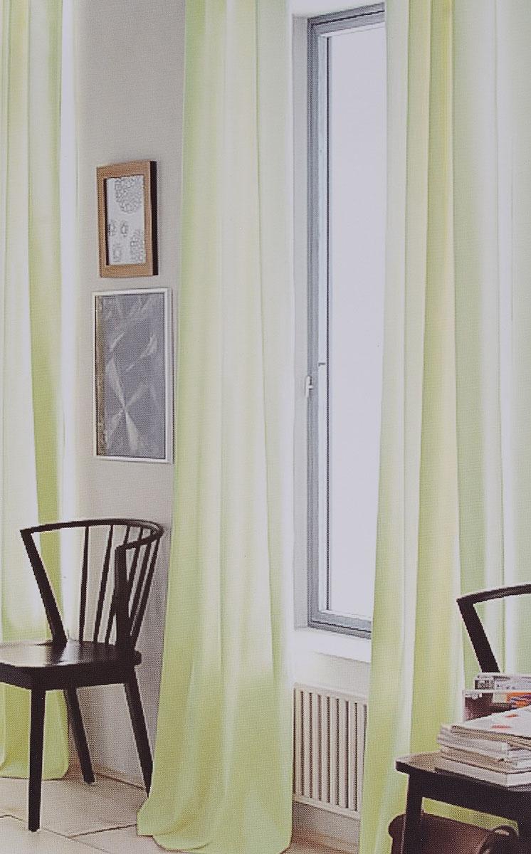 Штора готовая для гостиной Garden, на ленте, цвет: салатовый, размер 300*260 см. C W191 V73165C W191 V73165Изящная тюлевая штора Garden выполнена из вуали (100% полиэстера). Полупрозрачная ткань, приятный цвет привлекут к себе внимание и органично впишутся в интерьер помещения. Такая штора идеально подходит для солнечных комнат. Мягко рассеивая прямые лучи, она хорошо пропускает дневной свет и защищает от посторонних глаз. Отличное решение для многослойного оформления окон. Штора крепится на карниз при помощи ленты, которая поможет красиво и равномерно задрапировать верх.