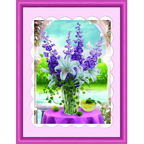 Набор для изготовления картины со стразами Cristal Ваза с цветами, 48 см х 64 см7711531Набор для изготовления картины со стразами Cristal Ваза с цветами поможет вам создать свой личный шедевр. Работа, выполненная своими руками, станет отличным подарком для друзей и близких! Набор содержит: - полотно-схема с нанесенным рисунком и клеевым слоем (48 см х 64 см), - пластиковое блюдце; - стразы (23 цвета); - маленькие пакетики; - пластиковую палочку; - пинцет; - инструкция на русском языке. Подарите близким тепло ваших рук! УВАЖАЕМЫЕ КЛИЕНТЫ! Обращаем ваше внимание, на тот факт, что рамка в комплект не входит, а служит для визуального восприятия товара.