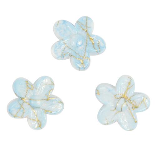 Бусины Астра Цветные камешки, цвет: голубой (6-33), диаметр 18 мм, 30 шт7710784_6-33Набор бусин Астра Цветные камешки, изготовленный из пластика в виде камешков, позволит вам своими руками создать оригинальные ожерелья, бусы или браслеты. Бусины в форме цветка имеют цветные разводы с оригинальным золотистым узором. Изготовление украшений - занимательное хобби и реализация творческих способностей рукодельницы, это возможность создания неповторимого индивидуального подарка. Диаметр бусины: 18 мм.