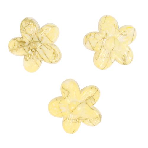 Бусины Астра Цветные камешки, цвет: желтый (6-31), диаметр 18 мм, 30 шт7710784_6-31Набор бусин Астра Цветные камешки, изготовленный из пластика в виде камешков, позволит вам своими руками создать оригинальные ожерелья, бусы или браслеты. Бусины в форме цветка имеют цветные разводы с оригинальным золотистым узором. Изготовление украшений - занимательное хобби и реализация творческих способностей рукодельницы, это возможность создания неповторимого индивидуального подарка. Диаметр бусины: 18 мм.