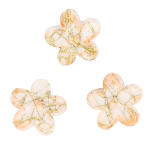 Бусины Астра Цветные камешки, цвет: белый, персиковый (6-21), диаметр 18 мм, 30 шт7710784_6-21Набор бусин Астра Цветные камешки, изготовленный из пластика в виде камешков, позволит вам своими руками создать оригинальные ожерелья, бусы или браслеты. Бусины в форме цветка имеют цветные разводы с оригинальным золотистым узором. Изготовление украшений - занимательное хобби и реализация творческих способностей рукодельницы, это возможность создания неповторимого индивидуального подарка. Диаметр бусины: 18 мм.