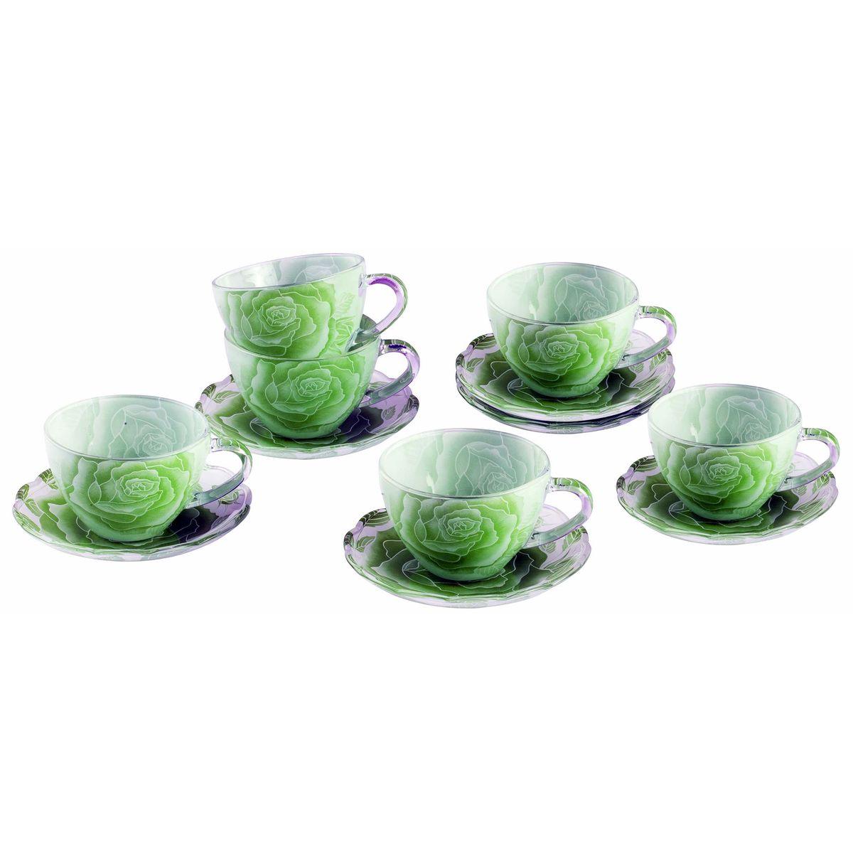 Набор чайный BK-5853 12прBK-585312пр.: чашка - 6шт. (200мл), блюдце - 6шт. (13,5см). Подарочная упаковка. Состав: стекло.