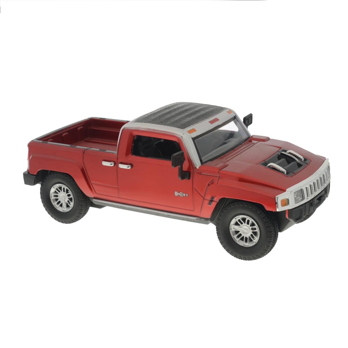 Guokai Машинка инерционная Hummer цвет красный1120873/866-82433Инерционная машинка Guokai Hummer, выполненная из высококачественного пластика, станет любимой игрушкой вашего малыша. Игрушка представляет собой модель пикапа марки Hummer. Игрушка оснащена инерционным ходом. Машинка может ехать как вперед, так и назад. Прорезиненные колеса обеспечивают надежное сцепление с любой гладкой поверхностью. При движении у машинки загораются фары. Ваш ребенок будет часами играть с этой игрушкой, придумывая различные истории. Порадуйте его таким замечательным подарком! Рекомендуется докупить 3 батарейки напряжением 1,5V типа АА (товар комплектуется демонстрационными).