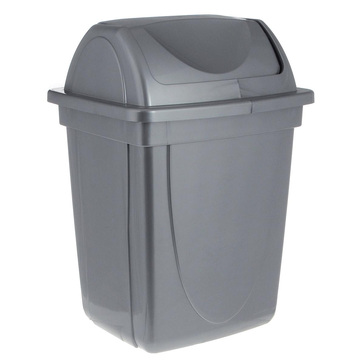Корзина для бумаг Стамм выполнена из высококачественного пластика и предназначена для сбора мелкого мусора и бумаг. Вместительная корзина оснащена удобной съемной крышкой, вращающейся на 360 градусов. Такая корзина прекрасно впишется в интерьер гостиной, спальни, офиса или кабинета.