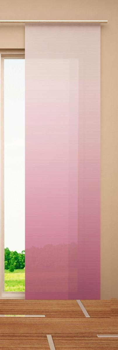 Японская панель Garden, цвет: розовый, белый, 60 х 270 смW678 (1985) 60х270 V259Японская панель Garden изготовлена из высокопрочной плотной однотонной ткани. Такая панель сможет заменить обычные шторы и оригинально украсить любой интерьер - от классики до авангарда. Она будет отлично смотреться как в просторных помещениях с большими окнами, так и в маленьких комнатах. Кроме того, такие панели позволяют оформлять не только оконные и дверные проемы, но и могут выступать в качестве декоративных перегородок: для отделения рабочей зоны, спального места, кухни и т.д. Преимущество данных панелей в том, что они, как и жалюзи, занимают мало места. Конструкция позволяет их легко монтировать и снимать. Внизу панель закреплена специальным утяжелителем, а вверху карнизным держателем. Для подвешивания японских панелей необходим специальный карниз. Он представляет собой алюминиевый профиль с несколькими рядами (до 10 рядов). Панель крепится на направляющую при помощи липучки. Такое крепление позволяет очень быстро и легко менять панели на другие. На один карниз...