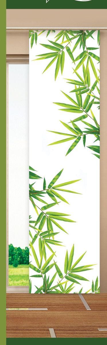 Японская панель Garden Бамбук, 60 х 270 см V410W678 (1985) 60х270 V410Японская панель Garden Бамбук выполнена из 100% полиэстера с красивым рисунком. Такая панель сможет заменить обычные шторы и оригинально украсить любой интерьер - от классики до авангарда. Она будет отлично смотреться как в просторных помещениях с большими окнами, так и в маленьких комнатах. Кроме того, такие панели позволяют оформлять не только оконные и дверные проемы, но и могут выступать в качестве декоративных перегородок: для отделения рабочей зоны, спального места, кухни и т.д. Преимущество данных панелей в том, что они, как и жалюзи, занимают мало места. Конструкция позволяет их легко монтировать и снимать. Внизу панель закреплена специальным утяжелителем, а вверху карнизным держателем. Для подвешивания японских панелей необходим специальный карниз. Он представляет собой алюминиевый профиль с несколькими рядами (до 10 рядов). Панель крепится на направляющую при помощи липучки. Такое крепление позволяет очень быстро и легко менять панели на другие. На один...