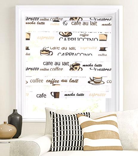 Мини-ролло Garden День-ночь Cafe 52х160 см, крепление на раму, цвет: белый3254052/1W2040Мини-ролло Garden День-ночь изготовлены из высокопрочной плотной ткани с прозрачными полосками и украшены изображением разнообразных чашек с кофе, оригинальными надписями. Ткань не выцветает, обладает отличной цветоустойчивостью и сохраняет свой размер даже при намокании. Мини-ролло - это подвид рулонных штор, который закрывает не весь оконный проем, а непосредственно само стекло. Крепление универсальное, шторы крепятся либо скобами на раму, либо на крепление с двусторонним скотчем. Мини-ролло Garden День-ночь - это отличное решение для тех, кто не хочет утяжелять помещение тканевыми шторами. Они не только открывают пространство, но и легко регулируют подачу света в помещение, сдвигая полоски относительно друг друга. Происходит это с помощью шнура-цепочки.