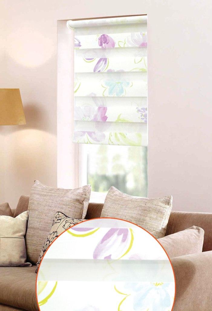 Мини ролло Garden День-ночь 3 48х160 см, крепление на раму, цвет: белый, фиолетовый8202048/2W2040Мини-ролло Garden День-ночь изготовлены из высокопрочной плотной ткани и украшены изображением цветов. Ткань не выцветает, обладает отличной цветоустойчивостью и сохраняет свой размер даже при намокании. Мини-ролло - это подвид рулонных штор, который закрывает не весь оконный проем, а непосредственно само стекло. Крепление универсальное, шторы крепятся либо скобами на раму, либо на крепление с двусторонним скотчем. Мини-ролло Garden День-ночь - это отличное решение для тех, кто не хочет утяжелять помещение тканевыми шторами. Они не только открывают пространство, но и легко регулируют подачу света в помещении, сдвигая полоски относительно друг друга. Происходит это с помощью шнура-цепочки. В комплект входит: - 2 крепления, - 2 самореза, - 2 дюбеля, - шнур-цепочка, - мини-ролло.