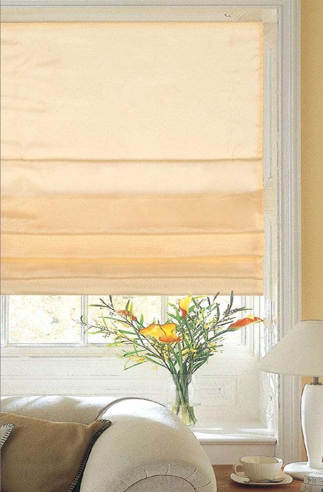 Римская штора Garden 52х170 см , цвет персиковый крепление стена - потолок