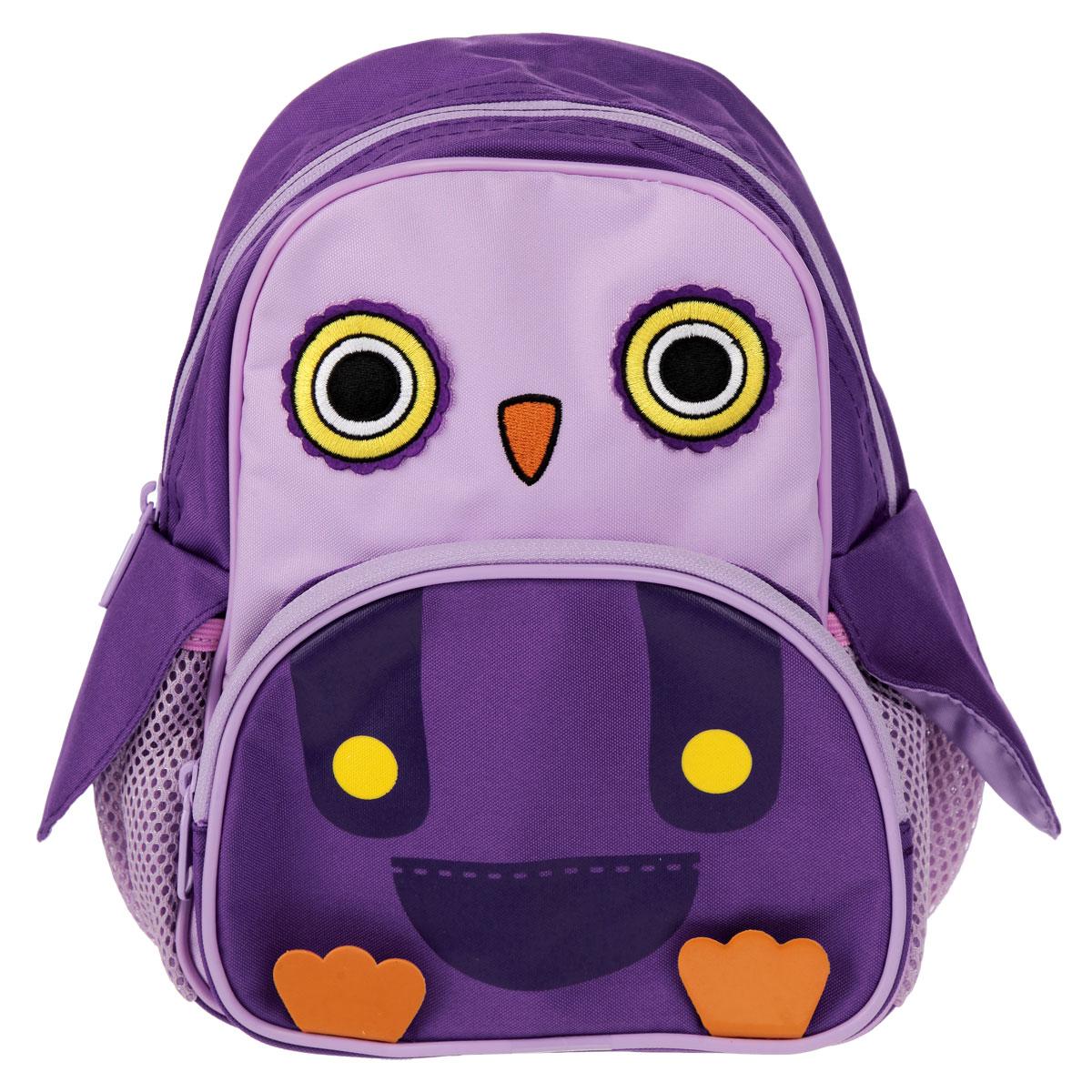 Рюкзак мини CUTE ANIMAL, размер 26 х 23 х 13 см, цвет: фиолетовый2925/TG_фиолетовыйРюкзак детский CUTE ANIMAL выполнен из износостойкого материала высокого качества. Изделие оформлено в виде пингвина. Рюкзак имеет одно основное отделение, которое закрывается на молнию. На лицевой стороне рюкзака расположен накладной карман на молнии. По бокам рюкзака расположены два накладных сетчатых кармана. Рюкзак оснащен анатомической рельефной спинкой, повторяющей контур спины и двумя эргономичным плечевыми ремнями, длина которых регулируется. Оригинальный детский рюкзак CUTE ANIMAL станет незаменимым спутником вашего ребенка в первых походах за знаниями.