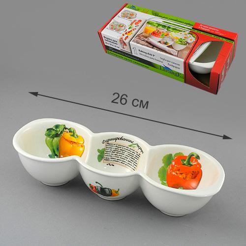 Форма для запекания Фаршированные перцы 26*10*5,8 см цв.уп.598-090Форма для запекания Фаршированные перцы 26*10*5,8 см цв.уп.