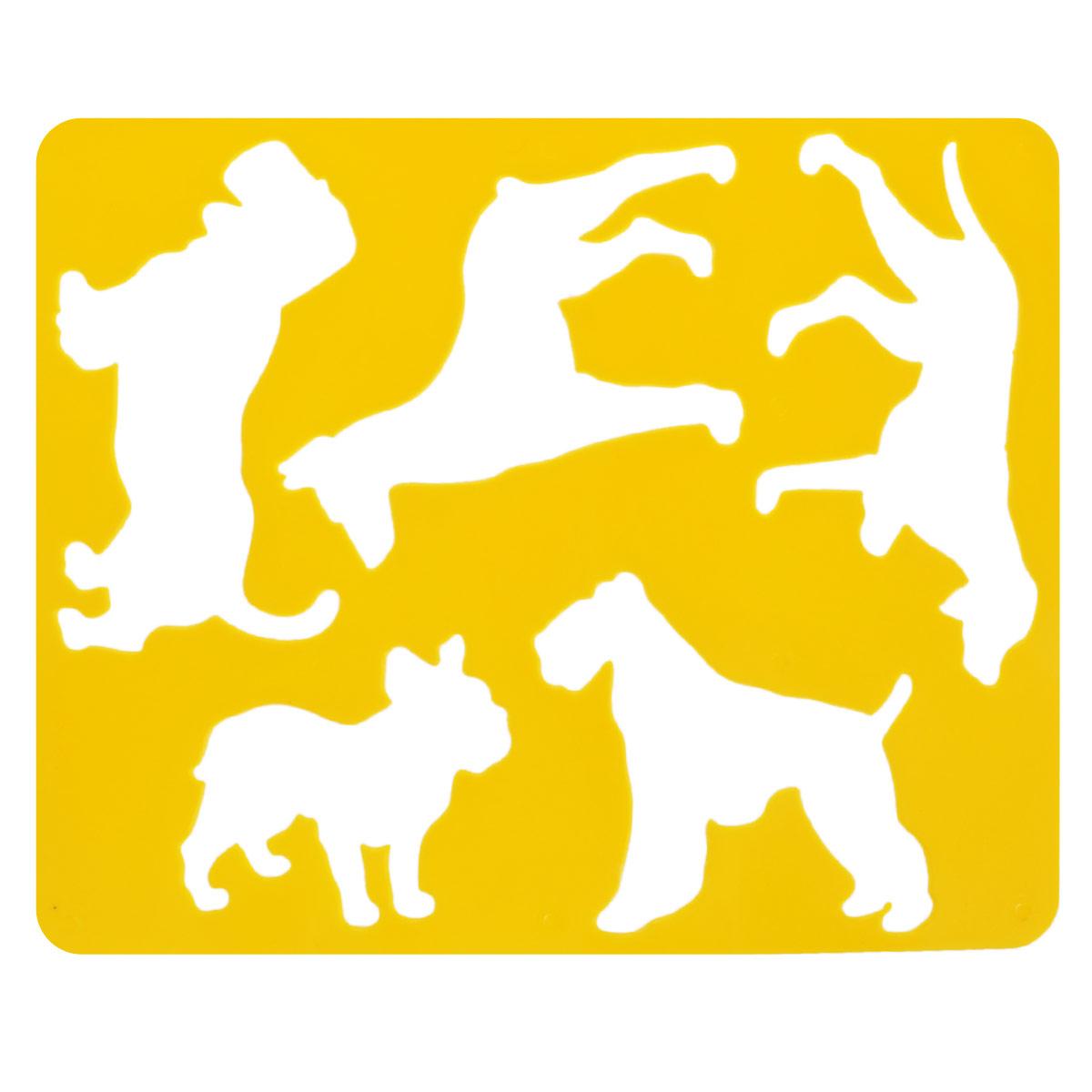 Трафарет Породы собак, цвет: желтыйC05620_желтыйТрафарет Породы собак идеально подойдет для изготовления открыток, аппликаций, приглашений и других оригинальных изделий. Комплект состоит из трафарета и бумажной основы с изображениями собак различных пород.
