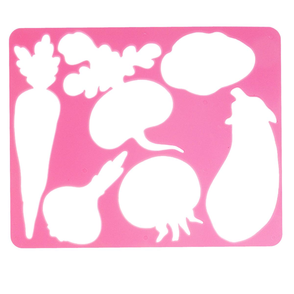 Трафарет Овощи, цвет: розовыйC07643_св.розовыйТрафарет Овощи идеально подойдет для изготовления открыток, приглашений и других оригинальных изделий. Комплект состоит из трафарета и бумажной основы с изображениями овощей.