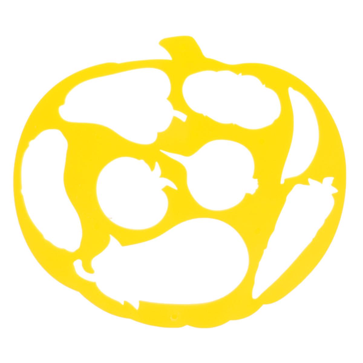 Трафарет фигурный Тыква и овощи, цвет: желтыйC13671_желтыйТрафарет Тыква и овощи идеально подойдет для изготовления открыток, аппликаций, приглашений и других оригинальных изделий. Трафарет можно использовать для рисования отдельных плодов и композиций из них. Комплект состоит из фигурного трафарета и бумажной основы с изображениями овощей.