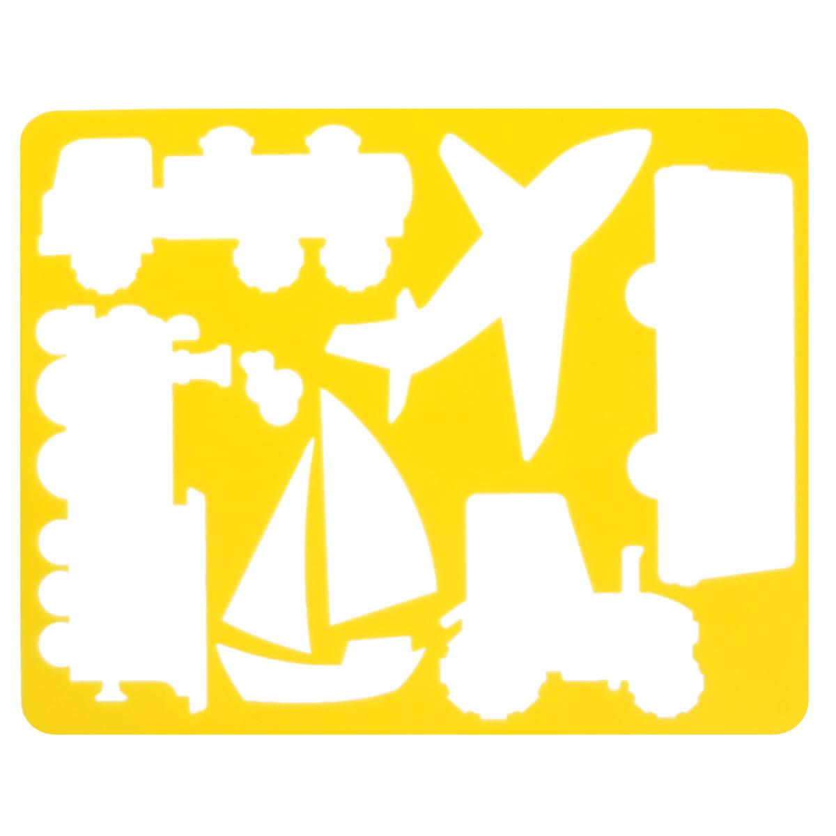 Трафарет Виды транспорта, цвет: желтыйC27837_молоко/желтыйТрафарет Виды транспорта идеально подойдет для изготовления открыток, аппликаций, приглашений и других оригинальных изделий. Комплект состоит из трафарета и бумажной основы с изображениями различных видов транспорта.