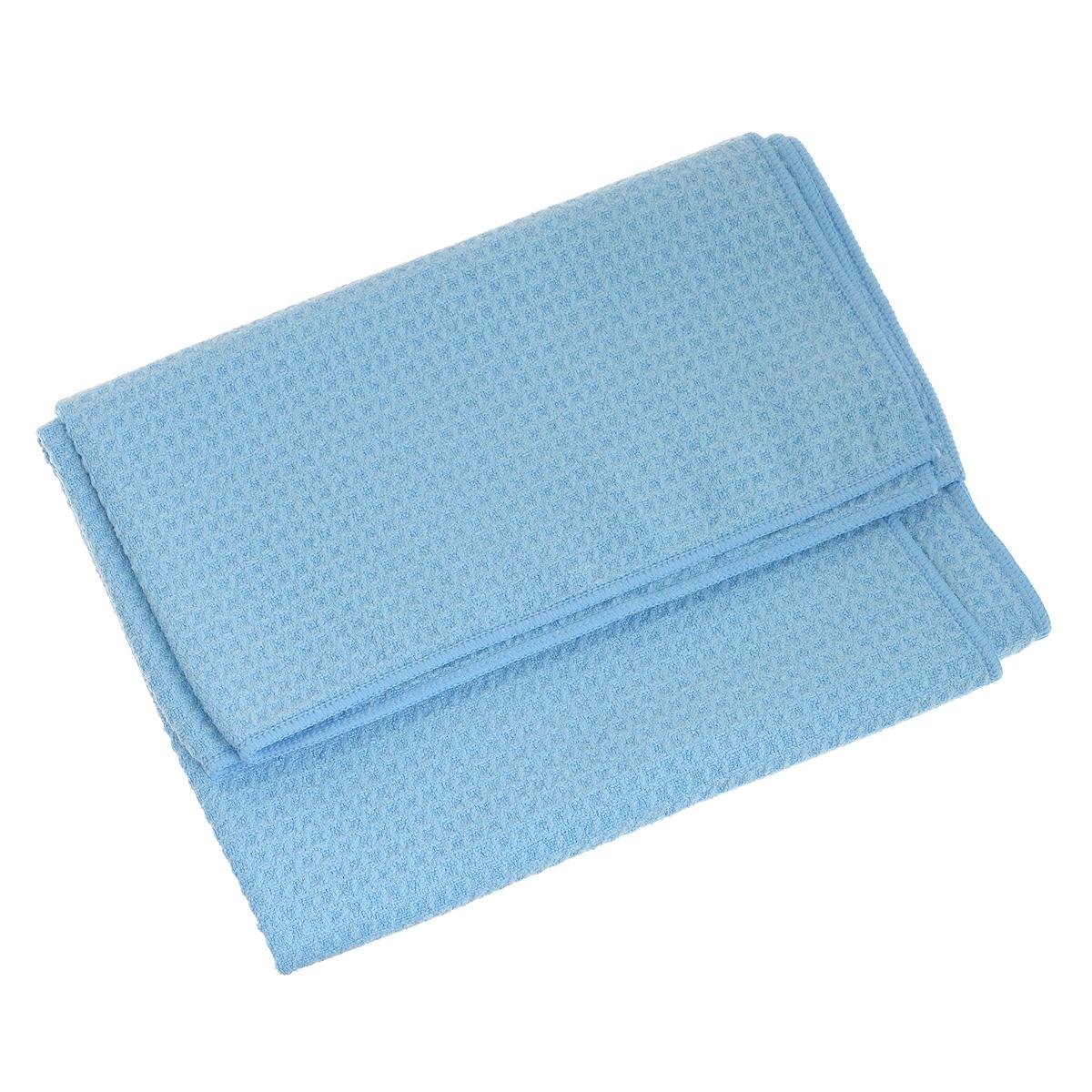 Салфетка универсальная Bioclean Waffeltuch, цвет: голубой, 50 см х 70 см086Салфетка Bioclean Waffeltuch легко удаляет жирные загрязнения, грязь и воду. Вы можете использовать ее на кухне, в ванной комнате, мыть полы и окна, производить мойку и чистку автомобиля. Изделие не оставляет разводов и ворсинок, обладает высокой износоустойчивостью и рассчитано на многократное использование. Выдерживает не менее 500 стирок с любым порошком при температуре до 95°С. Состав: 80% полиэстер, 20% полиамид.
