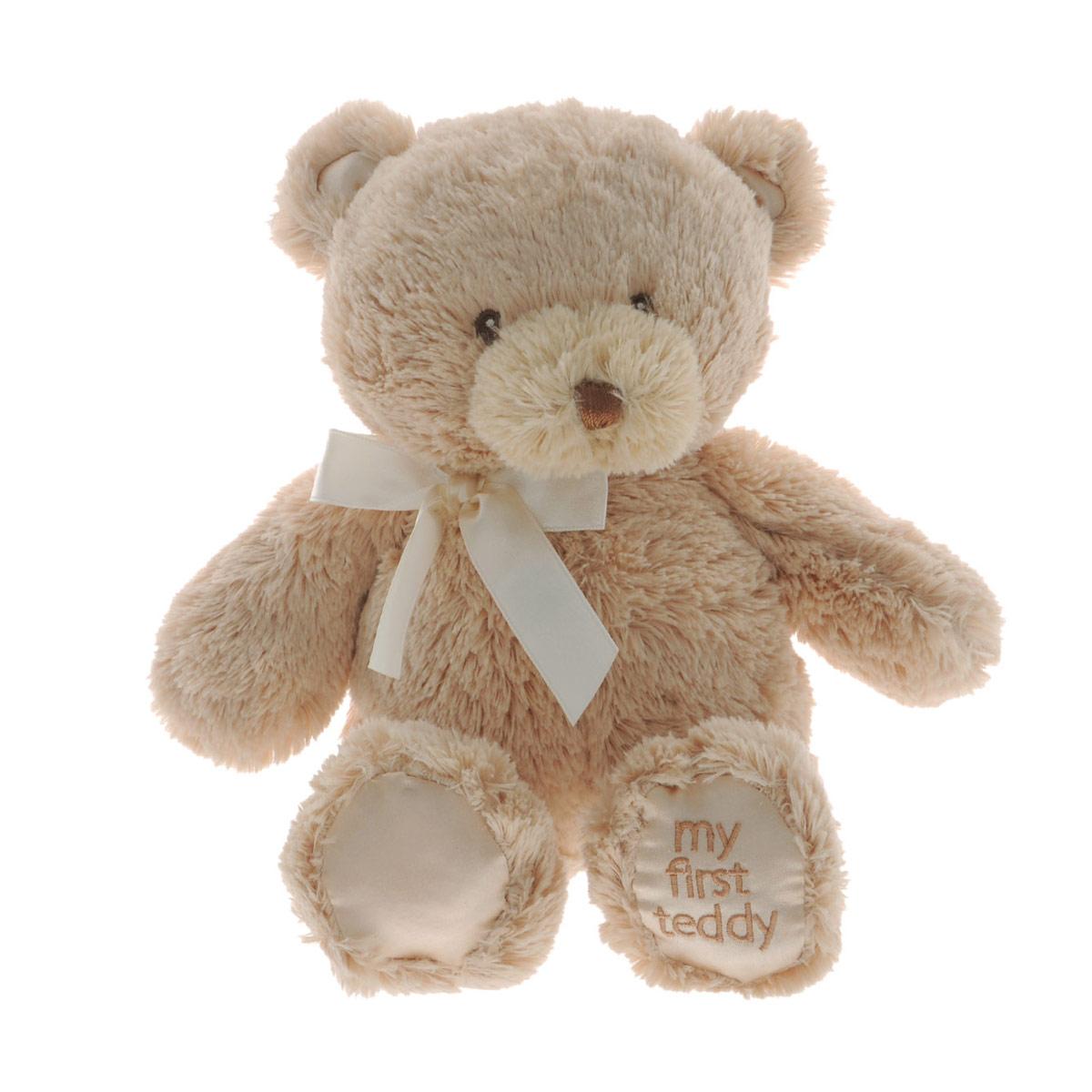 Gund Мягкая игрушка My First Teddy цвет бежевый 22,5 см240232_бежевыйМягкая игрушка My First Teddy станет отличным подарком как ребенку, так и взрослому. Игрушка невероятно мягкая на ощупь, поэтому с ней приятно не только играть, но и засыпать. Пушистый медвежонок с милым бантиком непременно подарит хорошее настроение своему обладателю.
