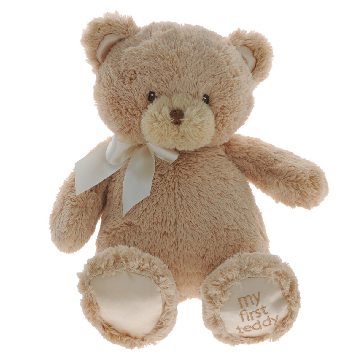 Gund Мягкая игрушка My First Teddy цвет бежевый 38 см240235_бежевыйМягкая игрушка My First Teddy станет отличным подарком как ребенку, так и взрослому. Игрушка невероятно мягкая на ощупь, поэтому с ней приятно не только играть, но и засыпать. Пушистый медвежонок с милым бантиком непременно подарит хорошее настроение своему обладателю.