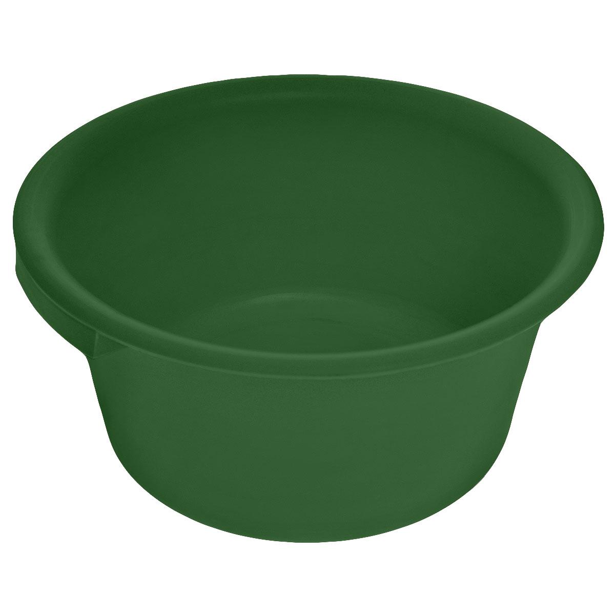 Таз хозяйственный Альтернатива, цвет: темно-зеленый, 9 лМ1106Таз Альтернатива изготовлен из высококачественного пластика. Он выполнен в классическом круглом варианте. Для удобного использования изделие снабжено двумя ручками. Таз предназначен для стирки и хранения разных вещей. Он пригодится в любом хозяйстве. Объем: 9 л. Диаметр (по верхнему краю): 35 см. Высота: 15,5 см.