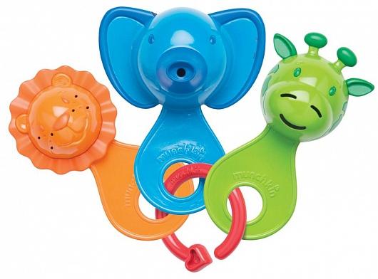Munchkin игрушка для ванны весёлые ситечки 6+ , цвет: голубой11964Набор разноцветных игрушек-ситечек развлечет ребенка во время купания и познакомит с окружающим его миром - ребенок с удовольствием будет зачерпывать и просеивать водичку, наблюдая, как она вытекает из разноцветных мордочек.