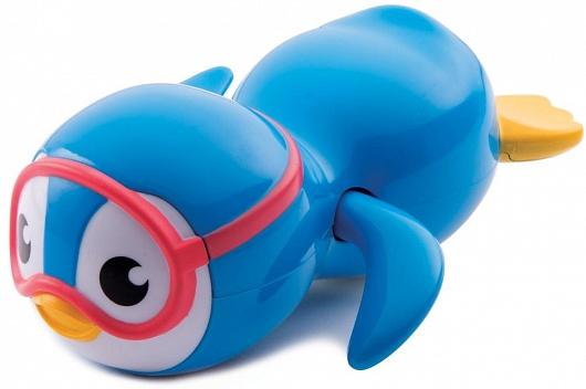 Munchkin игрушка для ванны пингвин пловец 9+ , цвет: белый, голубой11972Запустите этого очаровательно пингвинчика в ванну и наблюдайте, как стремительный подводный пловец рассекает в воде! Если завести механизм игрушки, она начнет забавно перебирать плавниками, плавая по пространству ванной - веселье во время купания гарантировано!