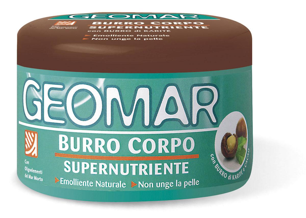 Geomar Масло для тела супер питательное 250 мл.38680151Кремовая консистенция масла интенсивно питает и увлажняет кожу, придавая ей мягкость, упругость и сияние, благодаря формуле с маслом карите и какао. Нежирная кремовая текстура быстро впитывается, оставляя кожу гладкой и бархатистой. Рекомендуется для всех типов кожи, идеально подходит для сухой кожи