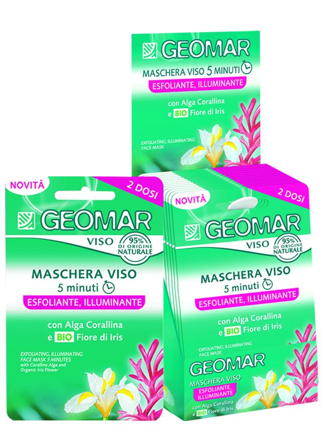 Geomar Маска для лица отшелушивающая осветляющая с натуральным цветком ириса 15 мл. (1 шт.)38681002Маска для лица увлажняет и мягко удаляет отмершие клетки и загрязнения с кожи лица. Она содержит лекарственный коралл, натуральный цветок ириса и Lightoceane®. Ее кремовая текстура подходит для тусклой и темной кожи.