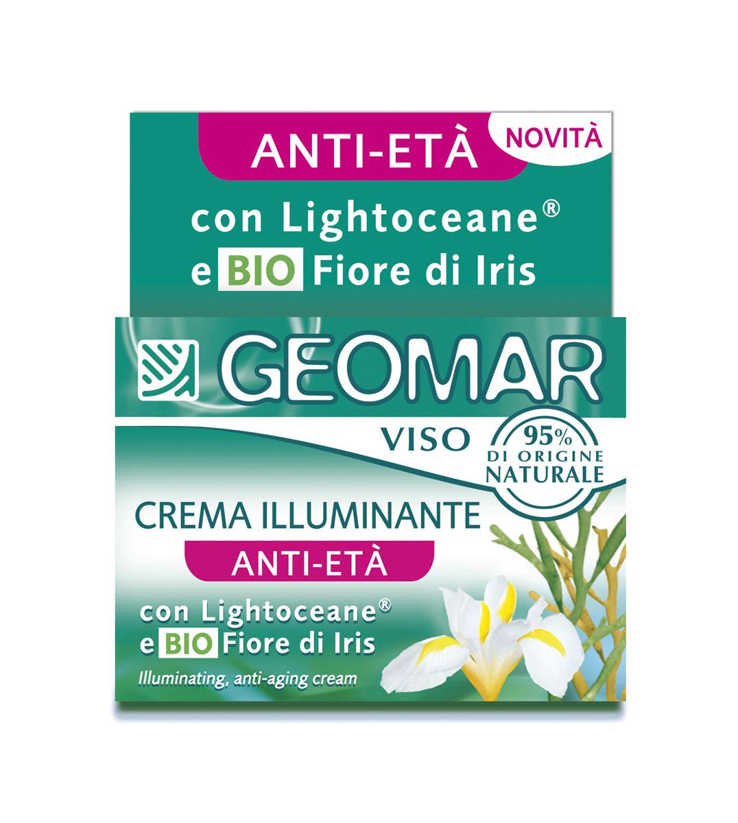Geomar Крем для лица омолаживающий осветляющий 50 мл.38681102Подходит для всех типов кожи, даже для чувствительной. Содержит Lightoceane ® - активный ингредиент на основе бурых водорослей, который обеспечивает осветляющее и омолаживающее действие, выравнивает цвет лица, защищает кожу от УФ-лучей и свободных радикалов. В состав входит натуральный цветок Ириса, который увлажняет кожу, придает ей упругость и мягкость.
