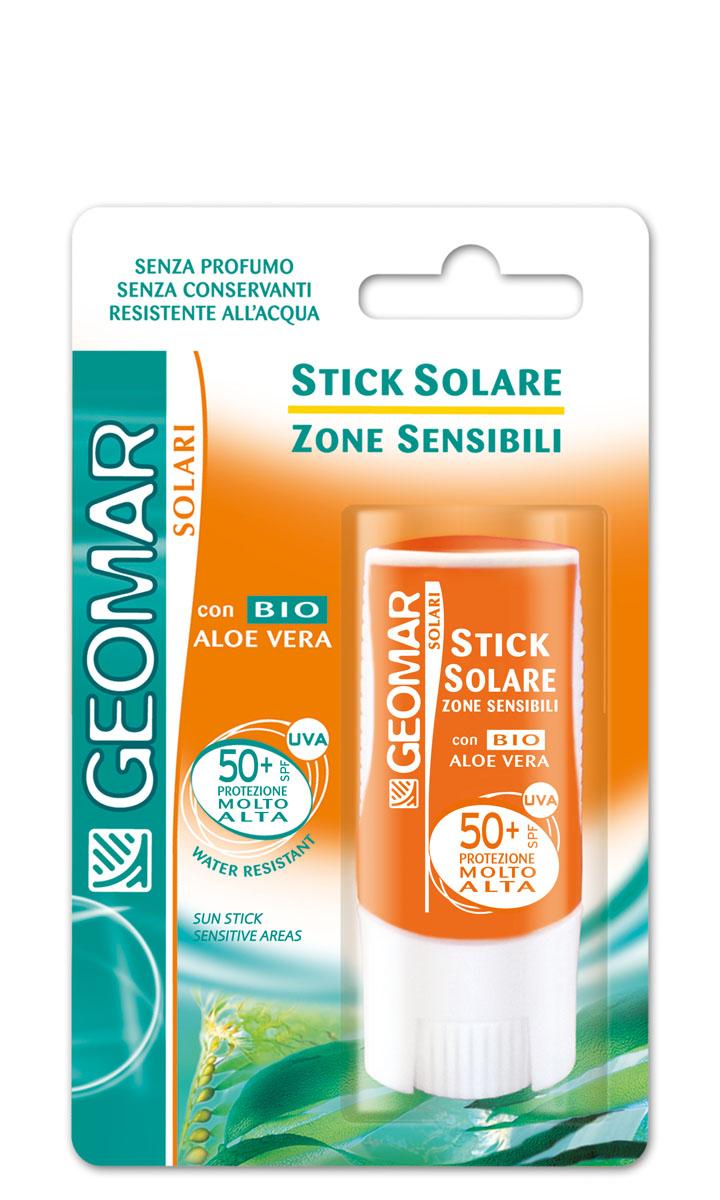 Geomar Стик солнцезащитный Solari Bio для чувствительных зон с уровнем защиты spf 50+ 9мл