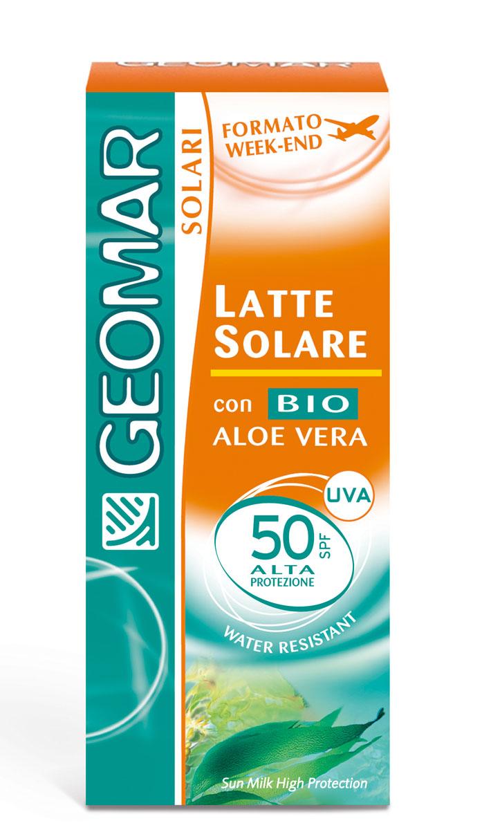 Geomar Молочко солнцезащитное Solari Bio с уровнем защиты SPF 50 75мл386808012Идеально для очень светлой кожи. Молочко для загара SPF50 помогает защитить кожу от вредного воздействия UVA и UVB лучей и помогает предотвратить преждевременное старение кожи. Содержит органическое алое вера с увлажняющим и питающим свойствами. Его нежирная легкая текстура быстро впитывается и не оставляет белых следов на коже. После нанесения кожа лица и тела становится мягкой и увлажненной. Водоотталкивающий.