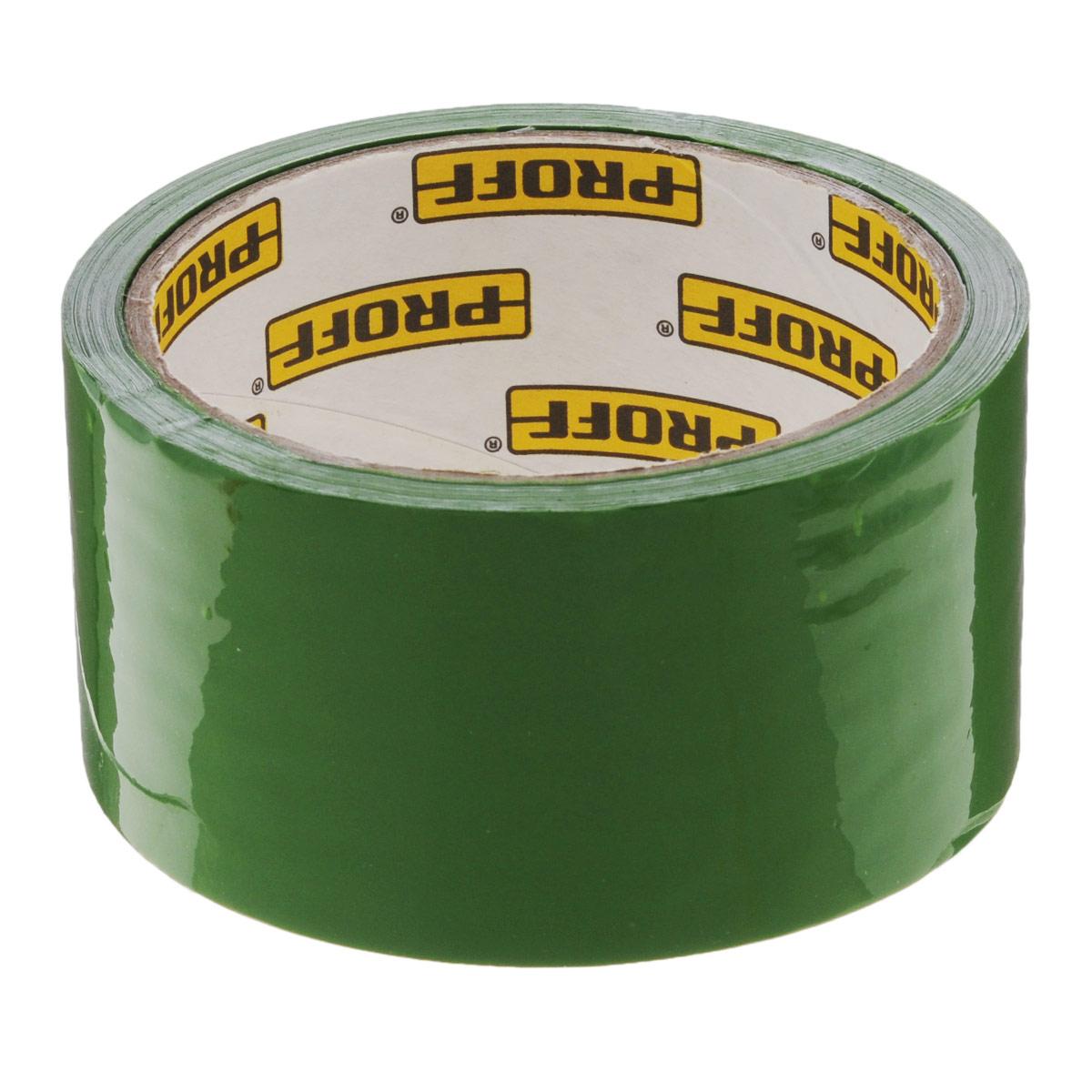 """Клейкая лента """"Proff"""", упаковочная, цвет: зеленый, 4,8 см х 360 см"""
