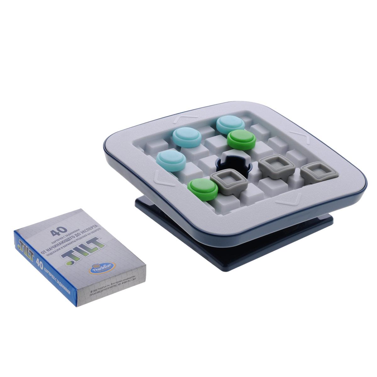 Thinkfun Головоломка Скользящие фишки1001-RUУвлекательная головоломка Thinkfun Скользящие фишки позволит ребенку весело и с пользой провести время. Игра включает пластиковое игровое поле с поддоном, 40 карточек с заданиями и подсказками и решениями на обороте, 2 зеленые фишки, 4 синие фишки, 6 серых квадратных блоков и мешочек для игровых принадлежностей. Цель игры - добиться того, чтобы зеленые фишки провалились в лунку в середине игрового поля, при этом не допустив падения в лунку синих фишек. Задания имеют различные уровни сложности - от начинающего до эксперта. Такая игра надолго займет ребенка и поможет ему раскрыть свой потенциал, научит его логическому мышлению и поспособствует развитию мелкой моторики.