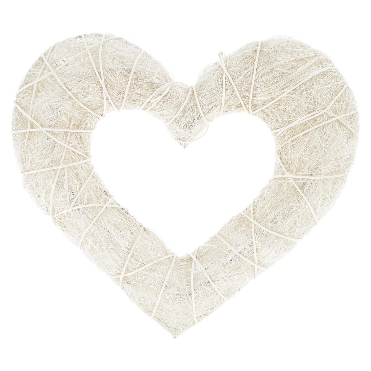 Венок декоративный ScrapBerrys Сердце, сизаль, 30 см х 28 смSCB370213Декоративный венок ScrapBerrys Сердце имеет прочный металлический каркас, оформленный сизалем. Служит в качестве заготовки для дальнейшего декорирования, для этого могут использоваться ленты, цветы, различные декоративные элементы и даже настоящие фрукты и ягоды. Венок можно оформить любыми декоративными элементами, в соответствии с темой праздника. Особенно актуален такой венок будет в Новый Год. Основу можно украсить шишками, мандаринами, еловыми ветками. Такой венок создаст атмосферу праздника с самого порога, а вам поможет проявить фантазию и свои творческие способности. Размер венка: 30 см х 28 см. Толщина: 3,5 см.