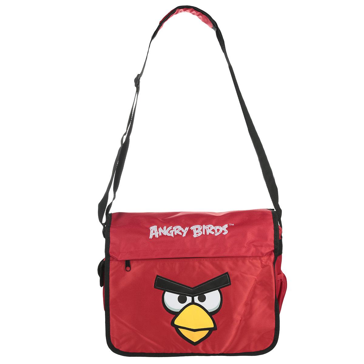 Сумка школьная Hatber Angry Birds, цвет: красный, черный, желтый. NSn_00203NSn_00203Многофункциональная школьная сумка Hatber Angry Birds выполнена из прочного износостойкого материала высокого качества. Изделие оформлено принтом с изображением птички. Сумка имеет одно основное отделение, которое закрывается на застежку-молнию и дополнительно закрывантся откидным клапаном на липучки. Внутри отделения расположен нашитый карман на молнии и жесткий средник-разделитель. Снаружи под откидным клапаном расположен накладной сетчатый карман на молнии. На лицевой стороне сумки расположен вшитый карман на молнии. По бокам изделия размещены два дополнительных накладных кармана, один из застегивается на липучку. Сумка оснащена плечевым ремнем с мягкой подложкой, длина ремня регулируется при помощи пряжки. Многофункциональная школьная сумка Hatber Angry Birds станет незаменимым спутником вашего ребенка в походах за знаниями.