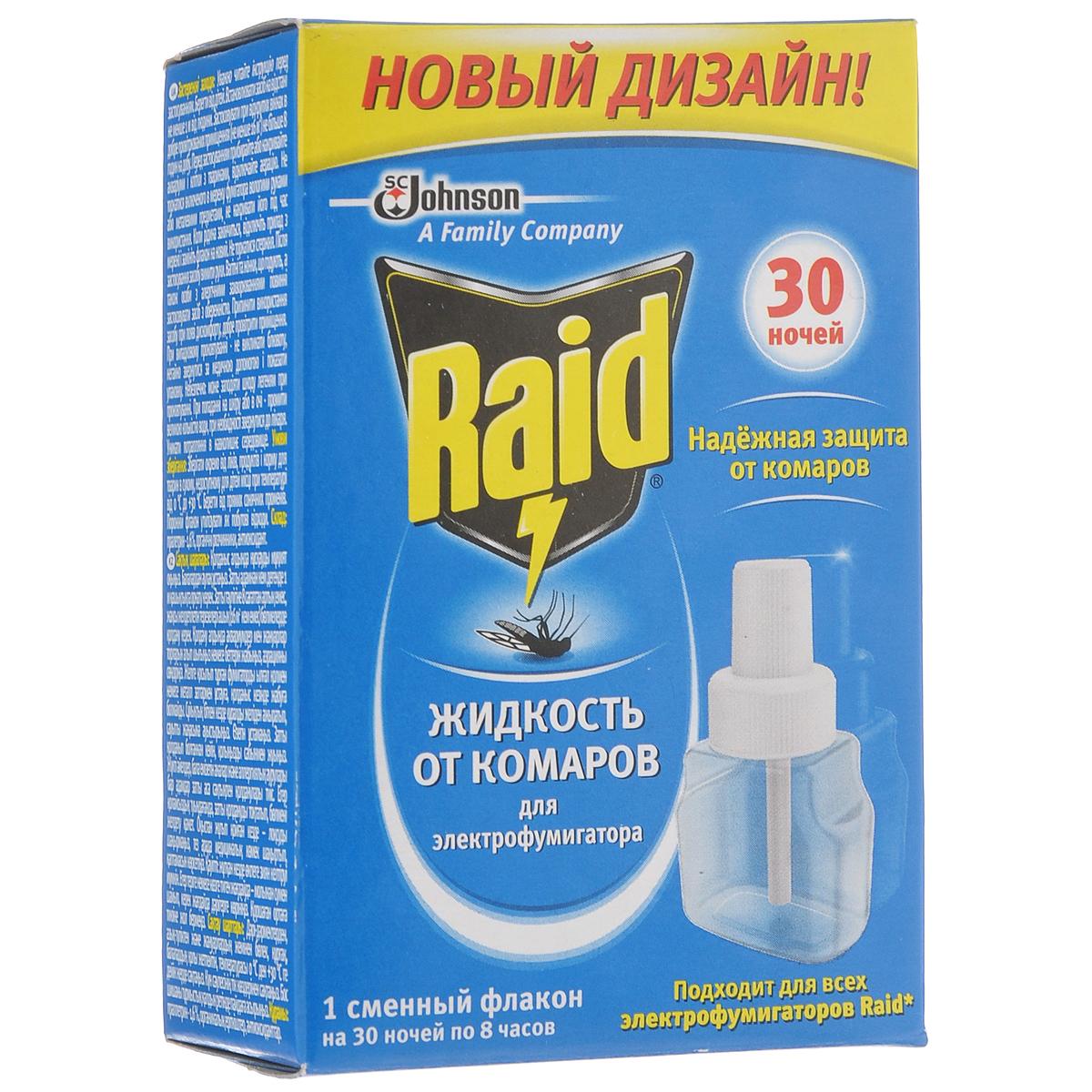 """Жидкость для фумигатора от комаров """"Raid"""", на 30 ночей, 21,9 мл 741748"""