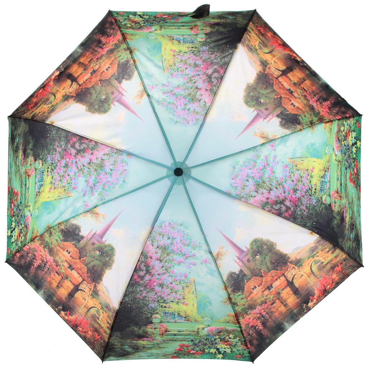 Зонт женский Zest, цвет: мультицвет. 239455-07239455-07Стильный женский зонт ZEST с облегченным каркасом выполнен из стали с антикоррозийным покрытием, спицы из фибергласса, устойчивые к выгибанию. Купол зонта изготовлен полиэстера с водоотталкивающей пропиткой. Закрытый купол застегивается на липучку хлястиком. Практичная рукоятка закругленной формы разработана с учетом требований эргономики и выполнена из пластика. Зонт оснащен автоматическим механизмом и чехлом. Такой зонт не только надежно защитит от дождя, но и станет стильным аксессуаром.