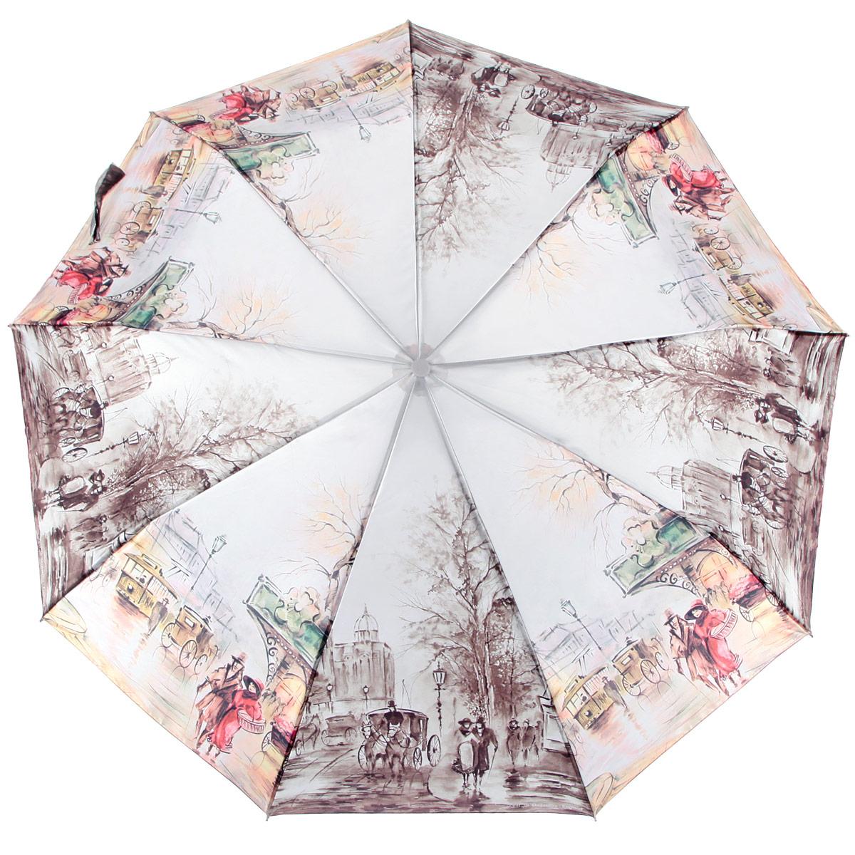 Зонт женский Zest, цвет: мультицвет. 239444-70239444-70Стильный женский зонт ZEST с удлиненным каркасом, выполнен из прочной стали с антикоррозийным покрытием, спицы из фибергласса, устойчивые к выгибанию. Купол зонта изготовлен из сатина с водоотталкивающей пропиткой. Закрытый купол застегивается на липучку хлястиком. Практичная рукоятка закругленной формы разработана с учетом требований эргономики и выполнена из пластика. Зонт оснащен автоматическим механизмом и чехлом. Такой зонт не только надежно защитит от дождя, но и станет стильным аксессуаром.