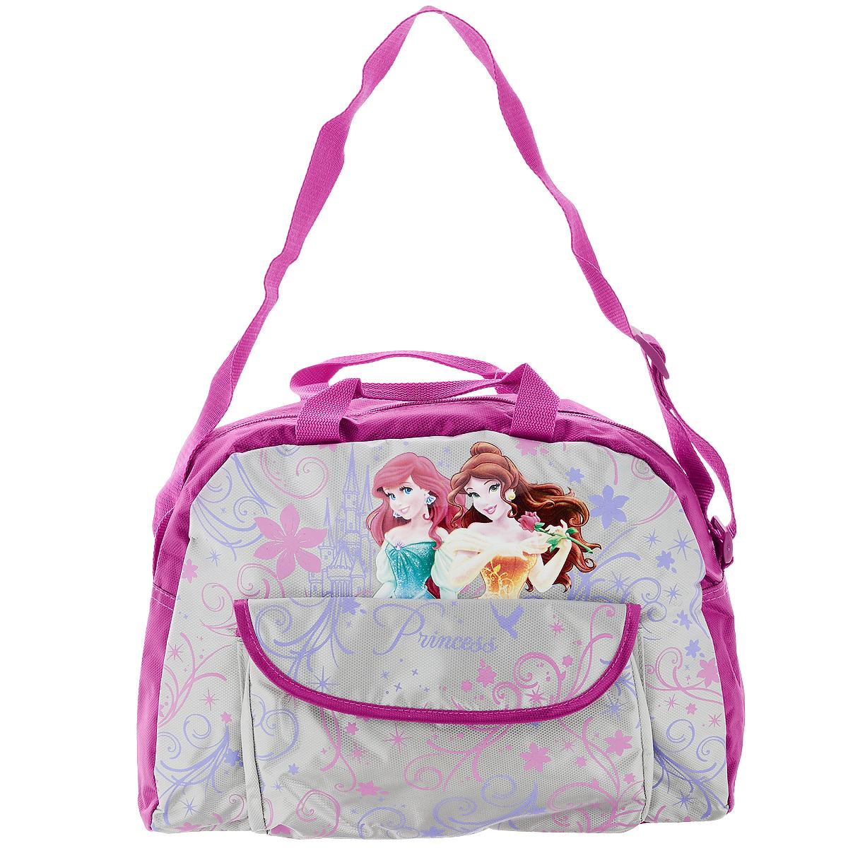 """Сумка детская """"Disney Princess"""", цвет: розовый, серый. PRAS-UT-4377"""