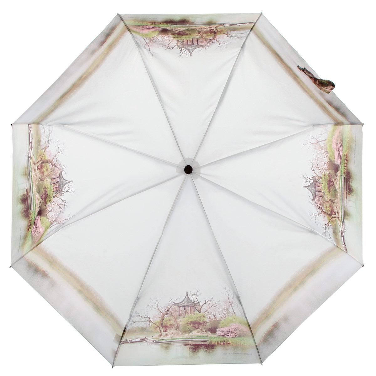 Зонт женский Zest, цвет: бежевый, зеленый, мультицвет. 23745-012223745-0122Стильный женский зонт ZEST с облегченным каркасом выполнен из алюминия с антикоррозийным покрытием, спицы из фибергласса, устойчивые к выгибанию. Купол зонта изготовлен полиэстера с водоотталкивающей пропиткой. Закрытый купол застегивается на липучку хлястиком. Практичная рукоятка закругленной формы разработана с учетом требований эргономики и выполнена из пластика. Зонт оснащен автоматическим механизмом и чехлом. Такой зонт не только надежно защитит от дождя, но и станет стильным аксессуаром.